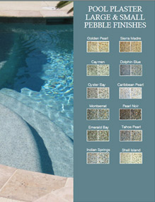 Small and Large Pebble Pool Finishes