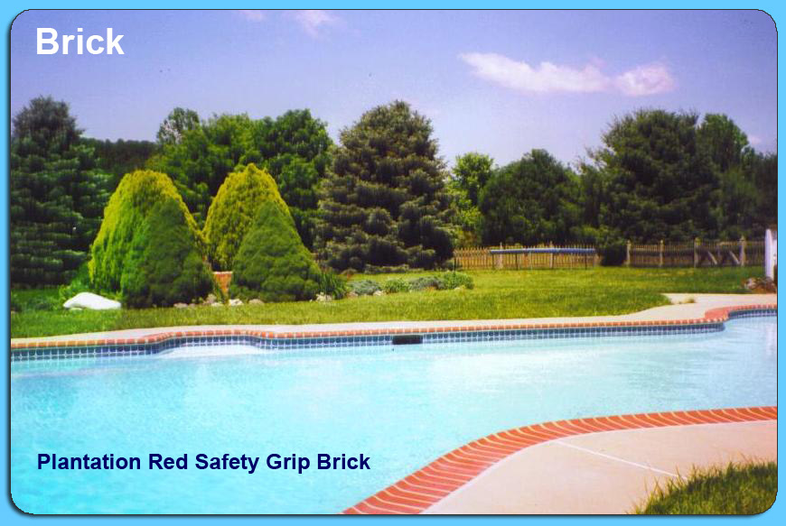 Plantation Red Safety Grip Brick Coping